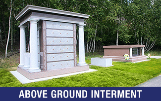 Above Ground Interment category